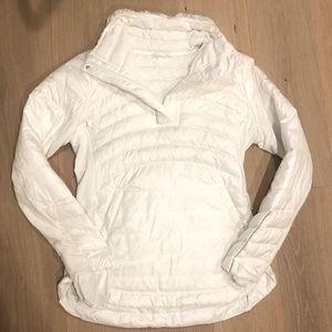 Bright white lululemon puffy jacket